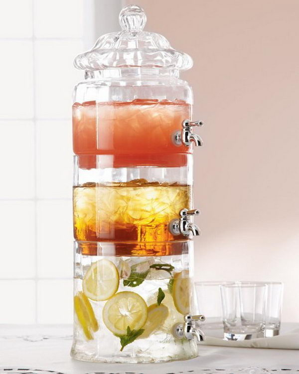 stacked drink dispenser 30