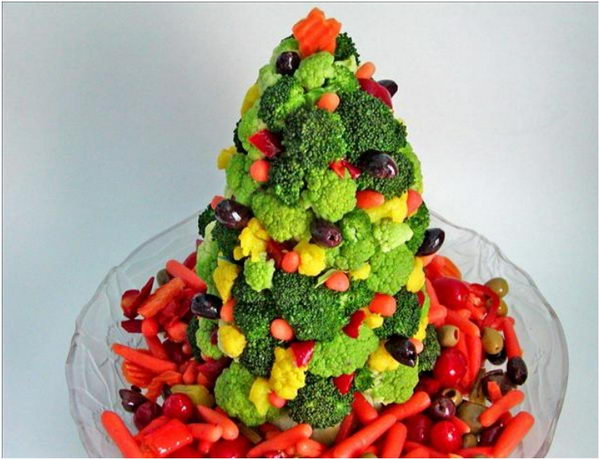 edible christmas tree arrangement idea 39