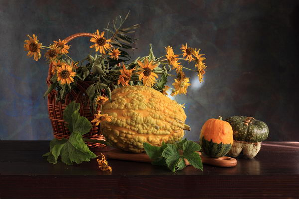 fall fruit flowers arrangement 20