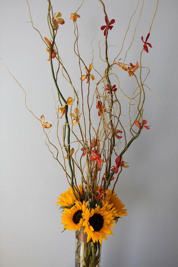 fall wedding flower arrangement 18