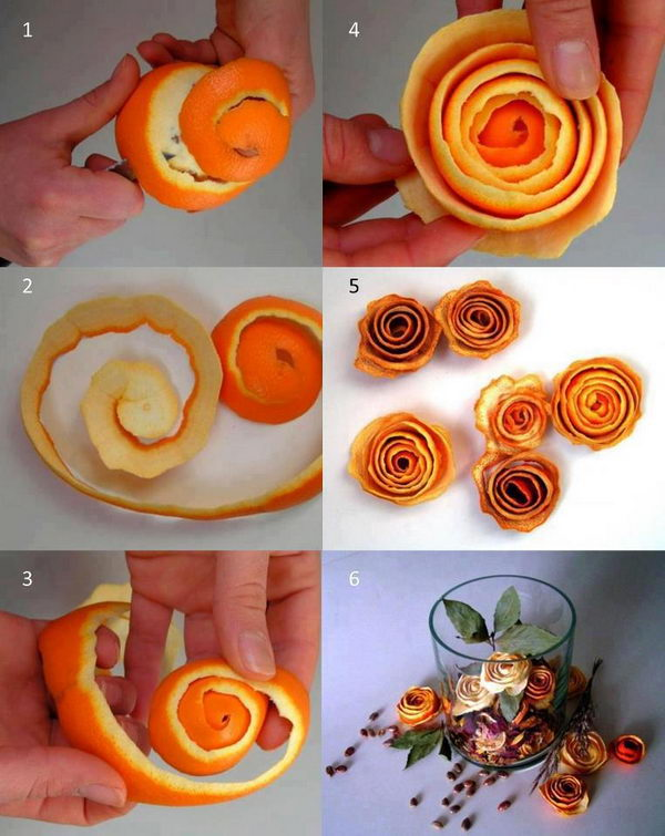 flowers idea orange peels 28