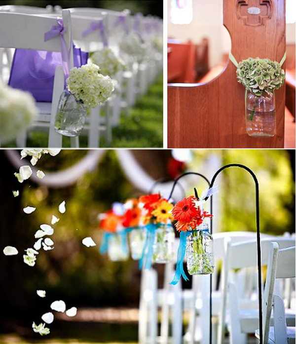 Wedding Pew Decoration Ideas: 40+ Creative Flower Arrangement Ideas 2017