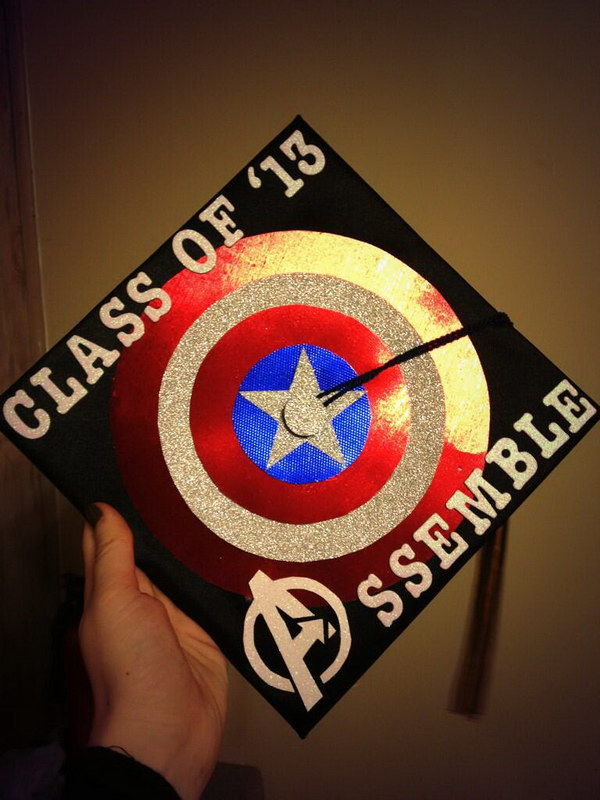 graduation cap decoration idea 40
