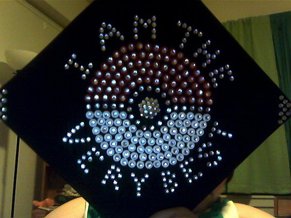 graduation cap decoration idea 41