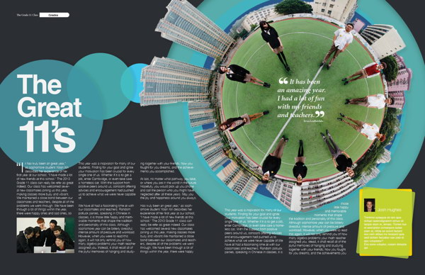 layout design for schools yearbook 7