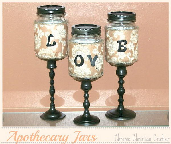 apothecary mason jars love letters 39
