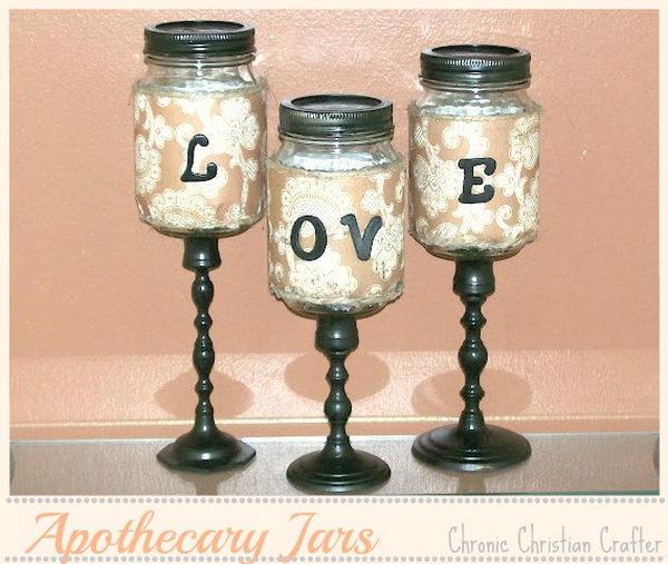 apothecary mason jars love letters 39
