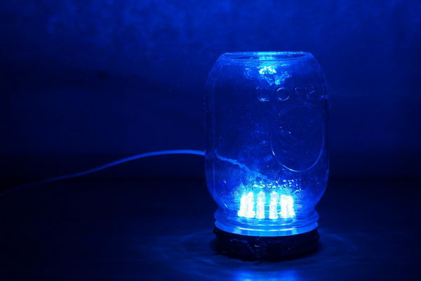 blue led mason jar ambience lamp 5