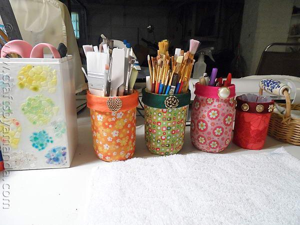 fabricd mason jars organizer 42