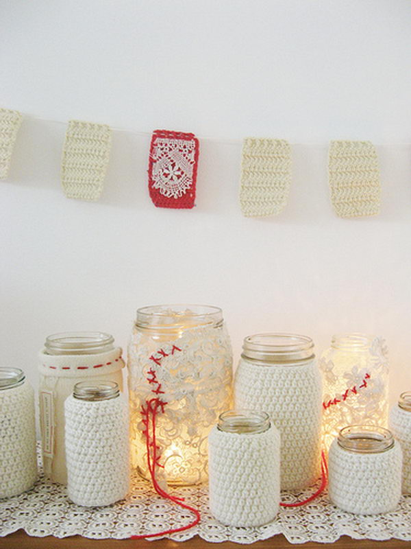 gleeful jam jars for wedding 11
