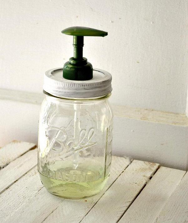 diy mason jar soap dispenser craft 8