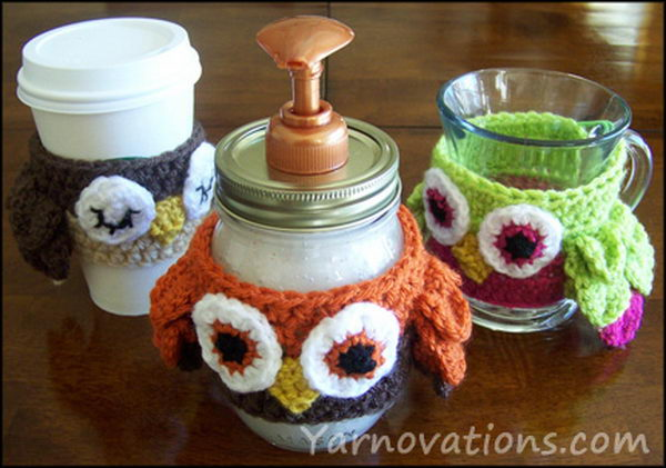 owl soap dispenser craft idea 1