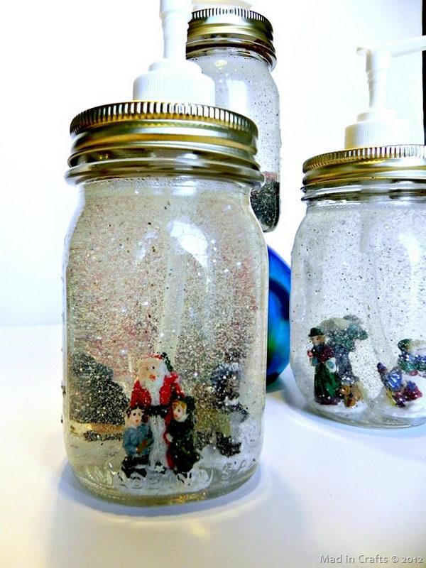 snow globe soap dispensers craft 2