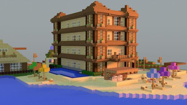 minecraft beach hotel 39