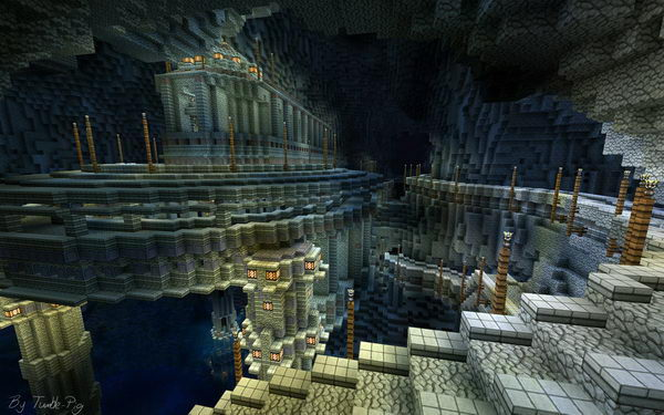 minecraft cavern city 49