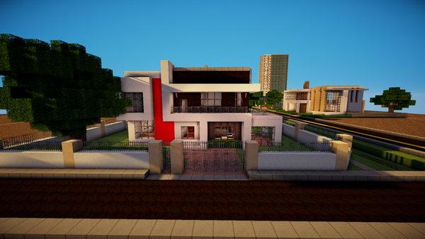 minecraft modern house 21