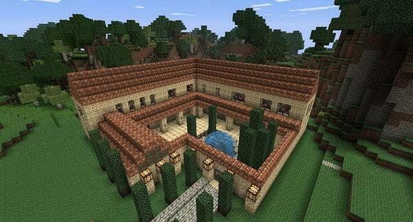 minecraft roman villa 16