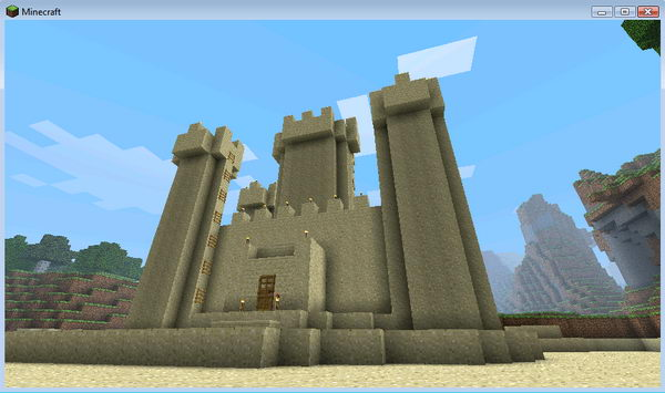 minecraft sand castle idea 11