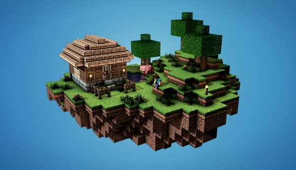 minecraft sky island 27