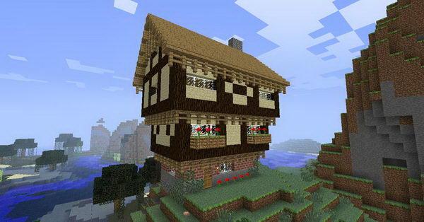 minecraft tudor house 17