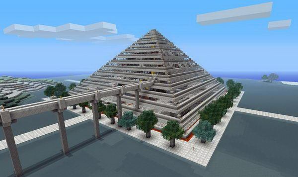 pyramid style mall hotel 45