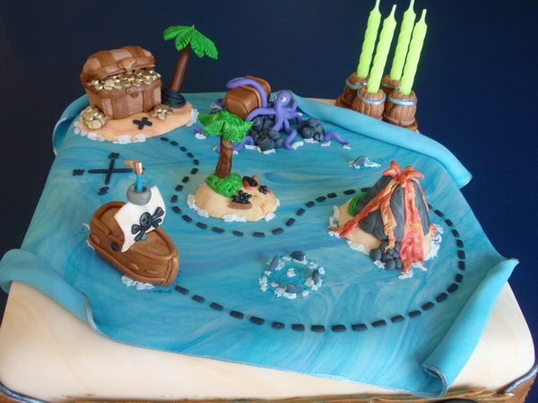 pirate treasure map cake 29