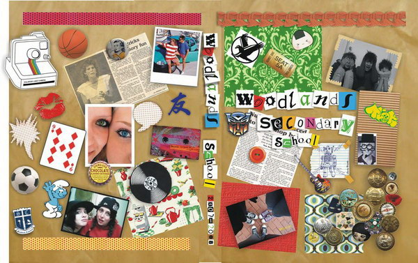 scrapbook yearbook cover design 8