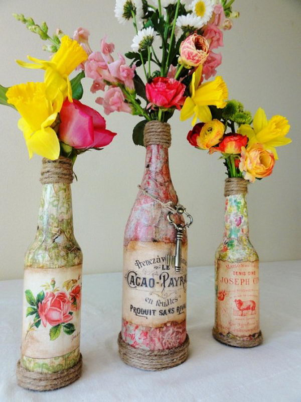 1 vintage wedding centerpiece