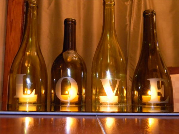 20 homemade candle love centerpiece