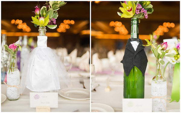 6 homemade wedding centerpiece