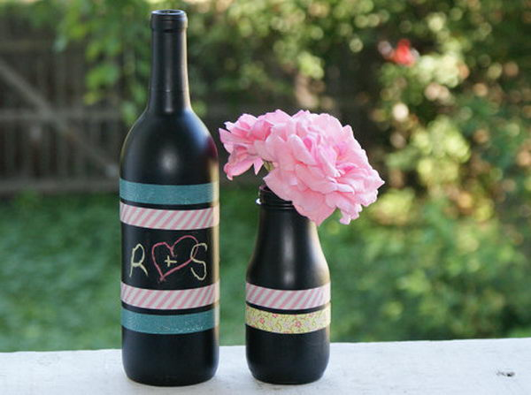 7 diy chalkboard paint centerpiece