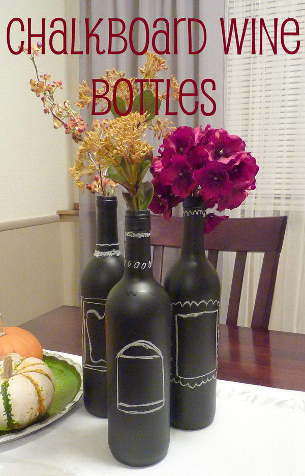 8 chalkboard painted centerpiece