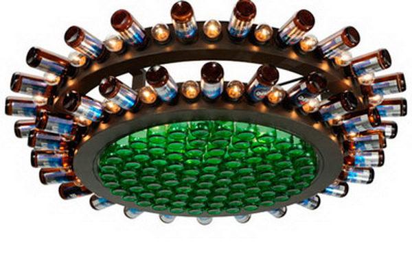 12 diy bottle chandeliers