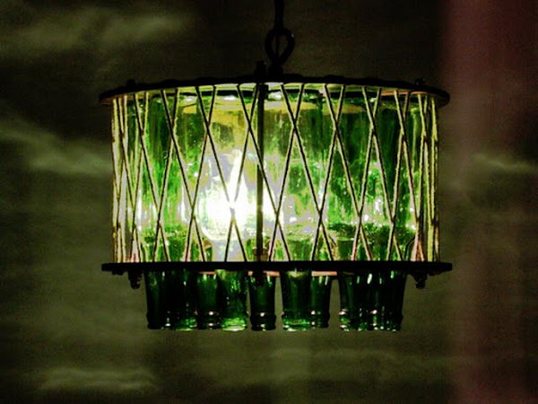 18 wine bottle chandelier