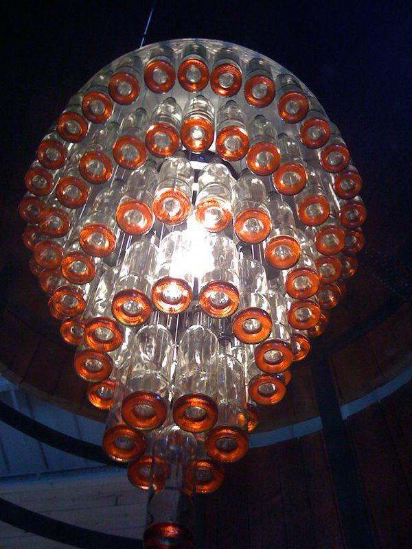 19 wine bottle chandelier