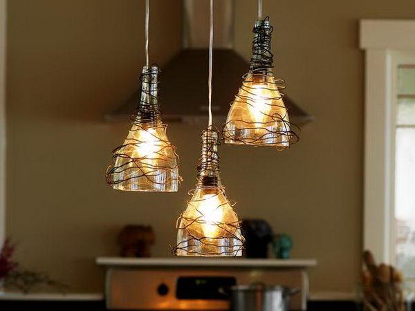 4 homemade kitchen chandeliers