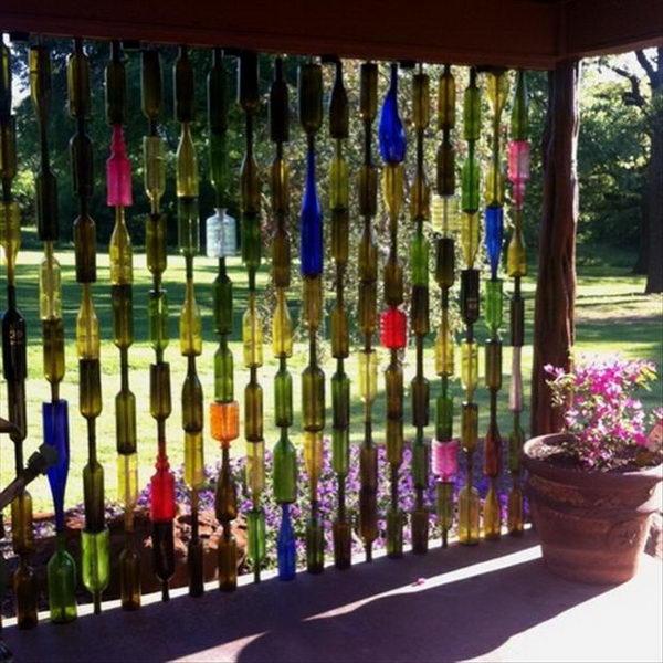 22 wine bottle curtain