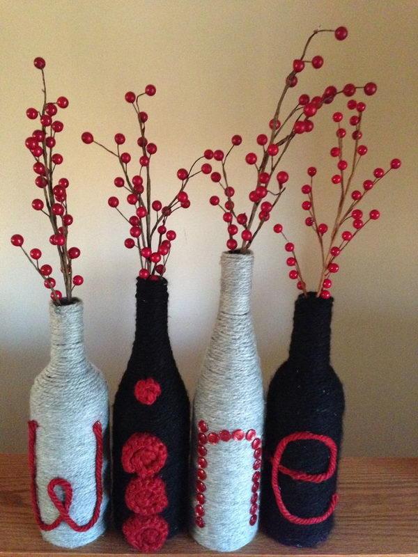 36 handmade wine letters