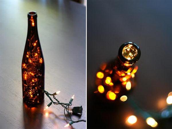 8 wine bottle craft light