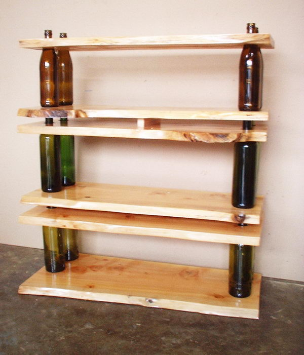 9 recycled shelving and tables
