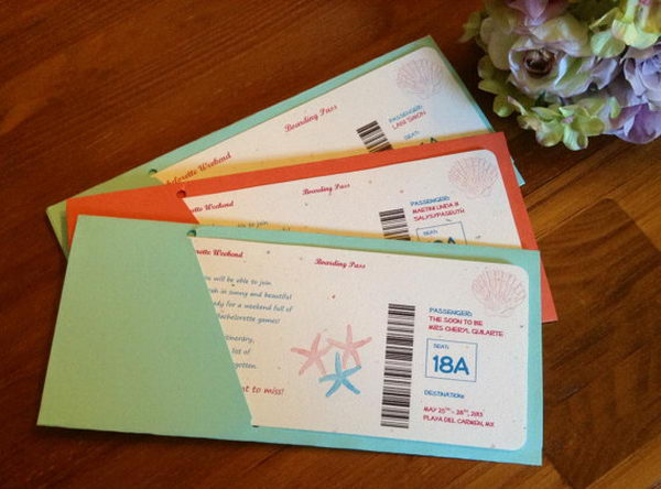 Boarding Pass Bachelorette Welcome Cards,