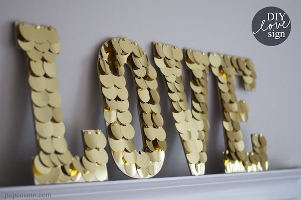 DIY Love Sign Decoration,