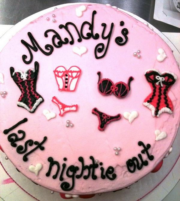 Cute Cake for Bachelorette Party,