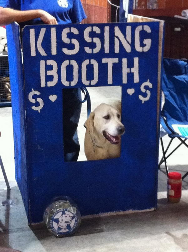 Dog Kissing Booth Fundraising Idea,