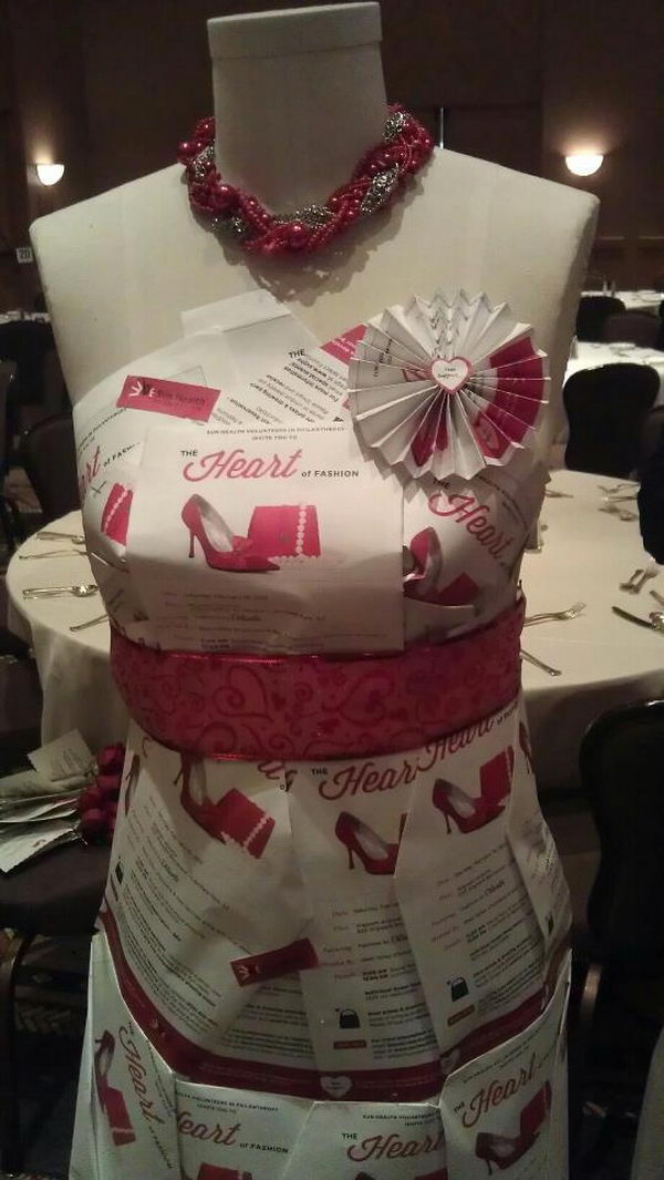 Fashion Dress Fundraising Idea. Cute way to display your fundraising event.