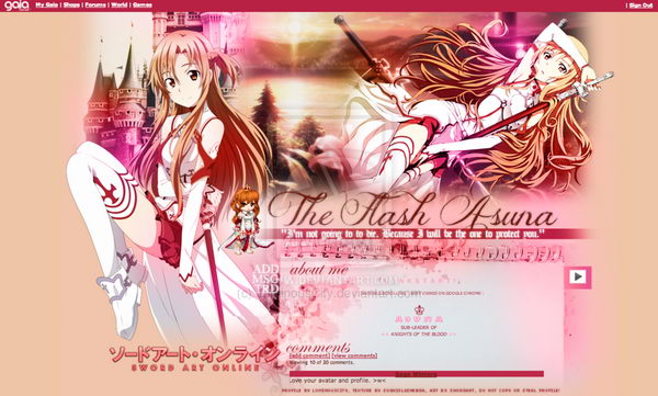 11 the flash asuna gaia profile
