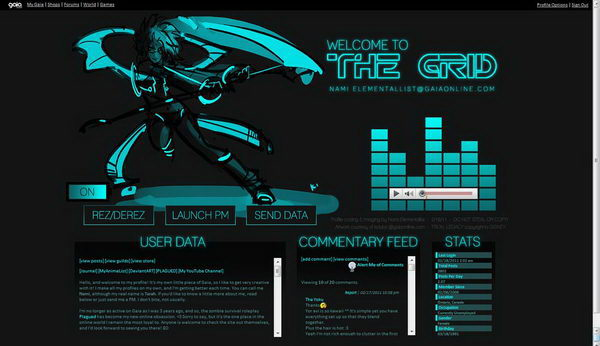 3 tron gaia profile layout