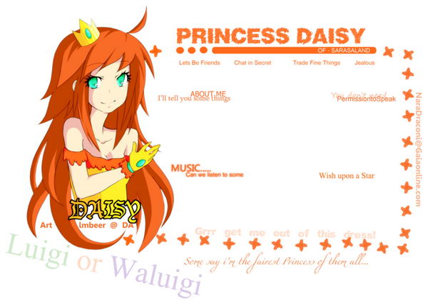 9 princess daisy profile layout