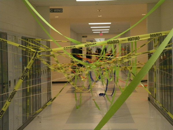 18 ribbons in the hallway