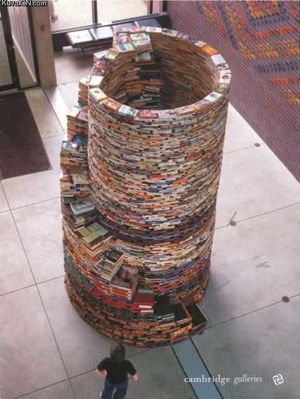 3 awesome book tower